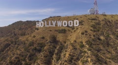 Aerial Hollywood Sign - stock footage