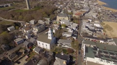 Aerial Provincetown, Massachusetts Stock Footage