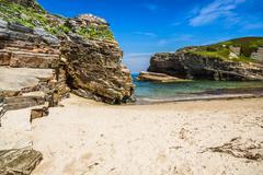 Rocky coast of Spain. Galicia Stock Photos