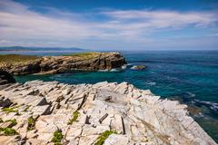 Rocky coast of Spain. Galicia - stock photo
