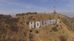Aerial Hollywood Sign Stock Footage
