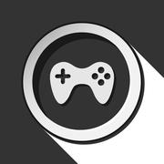 Icon - game pad with shadow Stock Illustration