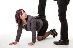 business woman crawling - stock photo