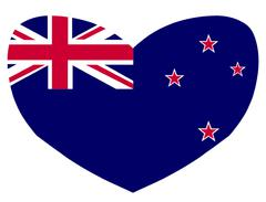 Love New Zealand Stock Illustration