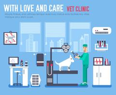 Medical vet clinic. Veterinarian icon. Veterinarian illustration. Veterinarian - stock illustration