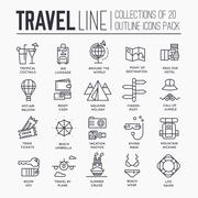 Travel infographic icons items design. Vacation rest with any elements set. Tour - stock illustration