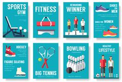 Sport lifestyle typography cover design concept. Sport lifestyle infographic - stock illustration