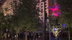 4K: Art Display at The Park Las Vegas - Circa 2016 Stock Footage