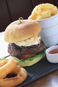 Gourmet burger Stock Photos