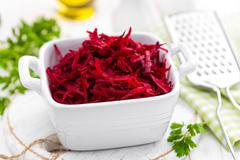 grated beet - stock photo