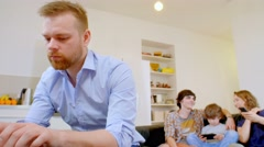 Happy family Relationships in a modern house - stock footage