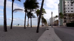 Hollywood Beach Florida along the beach walk and sand Arkistovideo