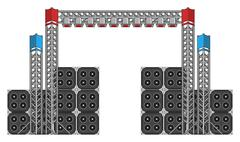 Festival and Concert Stage Equipment - stock illustration