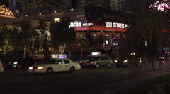 4K: Generic Las Vegas Strip Traffic & Skyline Stock Footage
