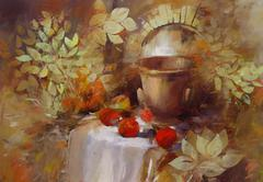 Still life handmade painting Stock Illustration