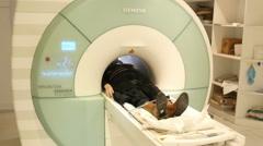 4k, woman doing MRI in hospital 1 Stock Footage