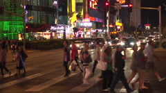 4K: People Walking Crossing The Las Vegas Strip Stock Footage