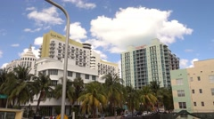 Royal Palm Hotel in Miami Beach Stock Footage