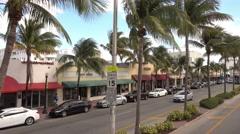 Collins Av Street view in Miami Beach Stock Footage