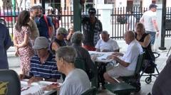 Domino Park at Little Havana Miami Stock Footage