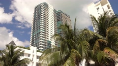 Hotels and condos in Miami Beach Stock Footage