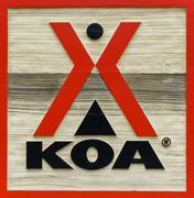 KOA Campground Sign and Logo Stock Photos