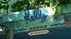 Kelly Carribbean Grill in Key West - Restaurant of Kelly McGillis Stock Footage