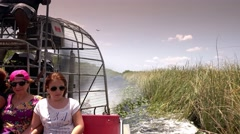 Thrilling Airboat Ride through the Everglades near Miami Florida Stock Footage