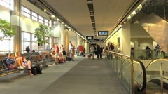The gates and concourses at Miami Airport Stock Footage