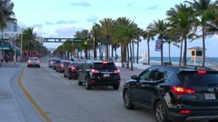 Las Olas Blvd 1A1 at Ft Lauderdale Stock Footage