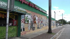 Little Havana district in Miami Stock Footage