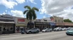 Calle Ocho in Little Havana Miami Stock Footage