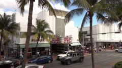Cameo venue and theatre in Miami Beach - stock footage