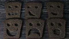 Bread baking figurines Stock Footage
