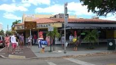 Little Havana street corner in Miami Stock Footage