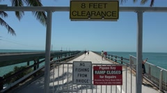 Bridge to Pigeon  Key in South Florida Stock Footage