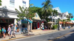 Famous Duval Street on Key West Stock Footage