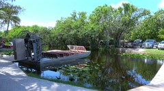 Airboats in the Everglades - stock footage