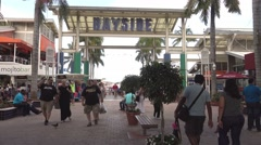 People relaxing at Bayside Miami - stock footage