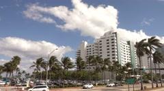 Eden Roc Hotel in Miami Beach - stock footage