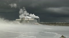Geothermal Power Plant Stock Footage