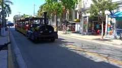Famous Conch Tour Train in Key West Stock Footage