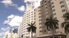 The Delano Hotel in Miami Beach Stock Footage
