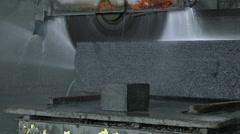 Granite stone cut saw Stock Footage