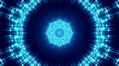 Blue abstract background and flowing light, loop Stock Footage