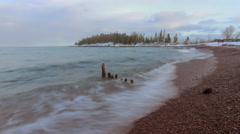 Winter Waves on Lake Superior Stock Footage