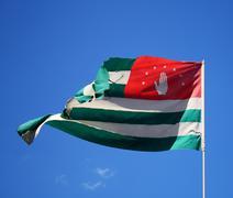 flag of Abkhazia - stock photo