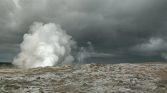 Active Geothermal Area Stock Footage