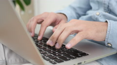 Typing Hands on Keyboard of Laptop Stock Footage