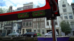 Multi-lingual Headsets on Amsterdam Canal Tour, the Netherlands Stock Footage